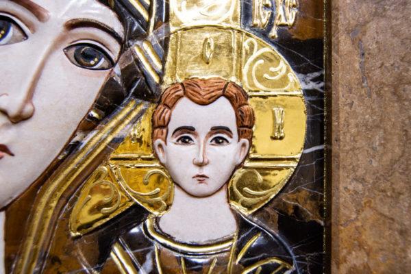 Икона Казанской Божией Матери № 3-12-6 из мрамора, камня, от Гливи, фото 8