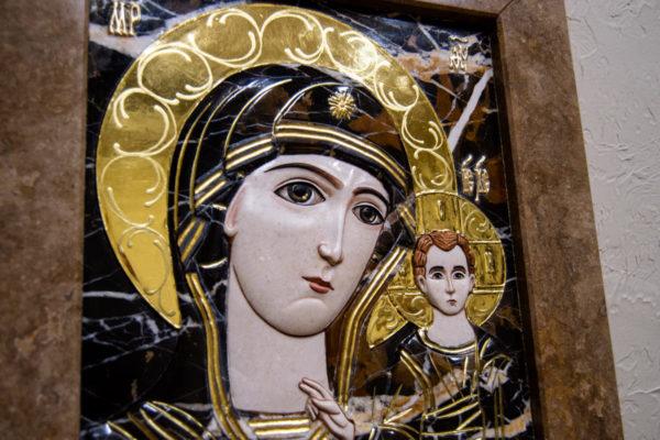 Икона Казанской Божией Матери № 3-12-6 из мрамора, камня, от Гливи, фото 10