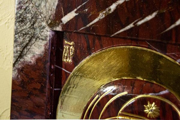 Икона Казанской Божией Матери № 3-12-10 из мрамора, камня, от Гливи, фото 4