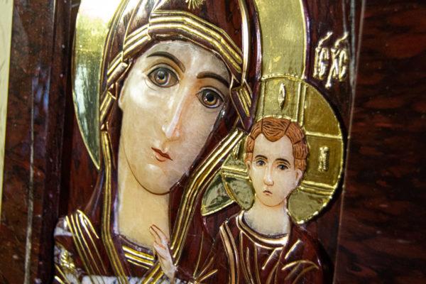 Икона Казанской Божией Матери № 3-12-10 из мрамора, камня, от Гливи, фото 5
