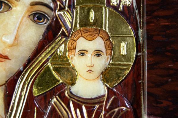 Икона Казанской Божией Матери № 3-12-10 из мрамора, камня, от Гливи, фото 8