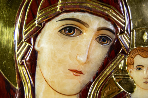 Икона Казанской Божией Матери № 3-12-10 из мрамора, камня, от Гливи, фото 9