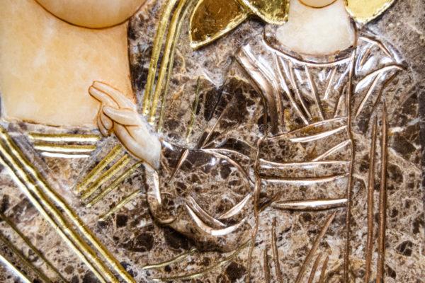 Икона Казанской Божией Матери № 3-12-8 из мрамора, камня, от Гливи, фото 8