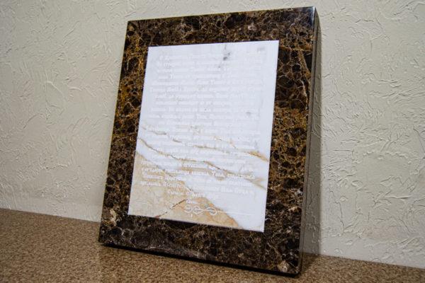 Икона Казанской Божией Матери № 3-12-8 из мрамора, камня, от Гливи, фото 10