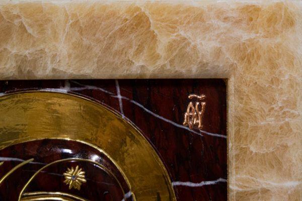 Икона Казанской Божией Матери № 3-12-12 из мрамора, камня, от Гливи, фото 1