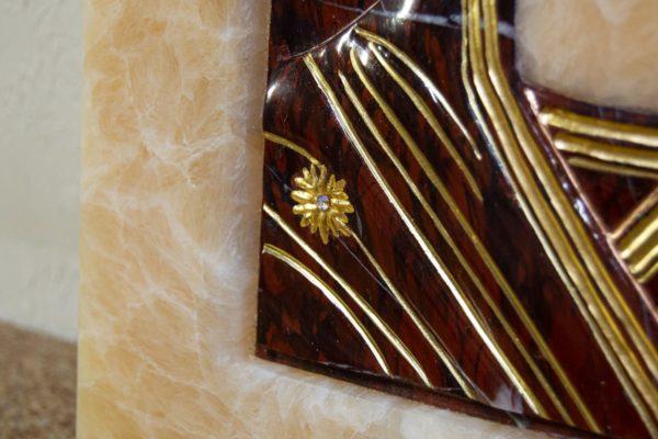 Икона Казанской Божией Матери № 3-12-12 из мрамора, камня, от Гливи, фото 11