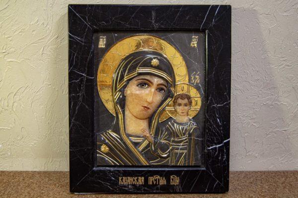 Икона Казанской Божией Матери № 3-12-11 из мрамора, камня, от Гливи, фото 1