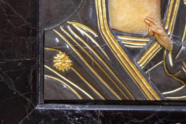 Икона Казанской Божией Матери № 3-12-11 из мрамора, камня, от Гливи, фото 2