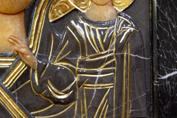 Икона Казанской Божией Матери № 3-12-11 из мрамора, камня, от Гливи, фото 3