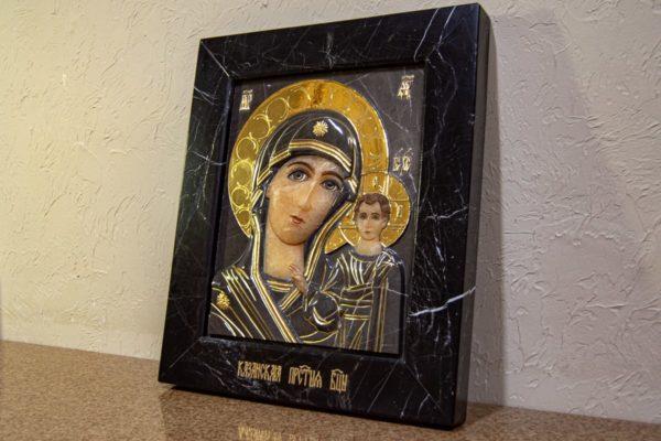Икона Казанской Божией Матери № 3-12-11 из мрамора, камня, от Гливи, фото 8