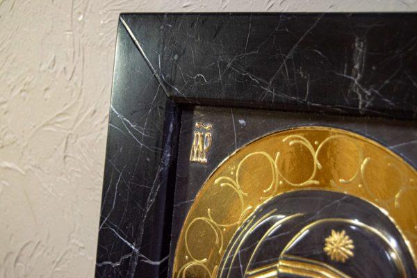 Икона Казанской Божией Матери № 3-12-11 из мрамора, камня, от Гливи, фото 9
