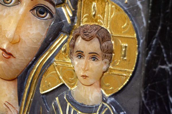 Икона Казанской Божией Матери № 3-12-11 из мрамора, камня, от Гливи, фото 10