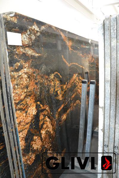 Натуральный камень, природный гранит Black Fusion от Гливи, фото 2