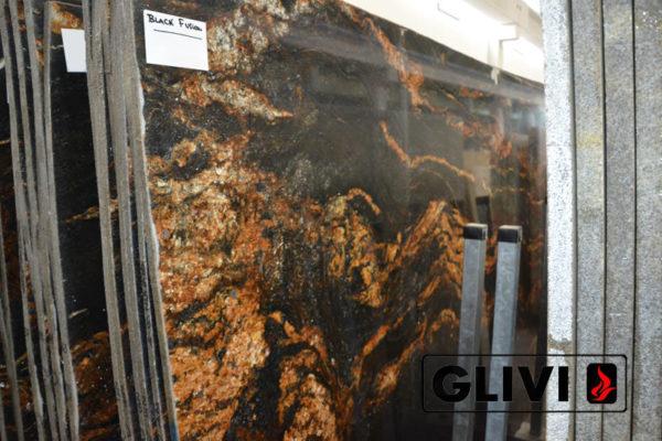Натуральный камень, природный гранит Black Fusion от Гливи, фото 3