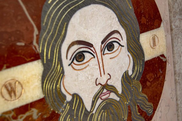 Икона Спас Нерукотворный № 1-12-10 из камня, Гливи, фото 12