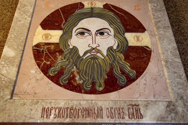 Икона Спас Нерукотворный № 1-12-10 из камня, Гливи, фото 6