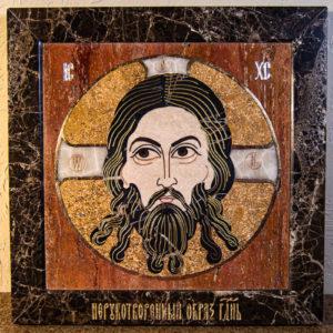 Икона Спас Нерукотворный № 1-12-9 из камня, Гливи, фото 12