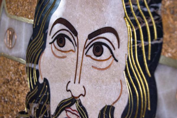 Икона Спас Нерукотворный № 1-12-9 из камня, Гливи, фото 11