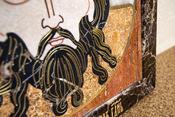 Икона Спас Нерукотворный № 1-12-9 из камня, Гливи, фото 6