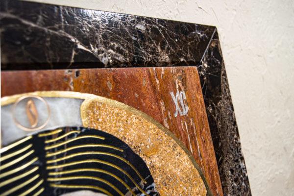 Икона Спас Нерукотворный № 1-12-9 из камня, Гливи, фото 7