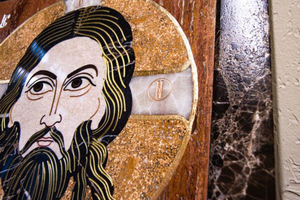 Икона Спас Нерукотворный № 1-12-9 из камня, Гливи, фото 2