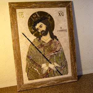 Икона Царь Иудейский № 1-12-1 из камня, Гливи, фото 1