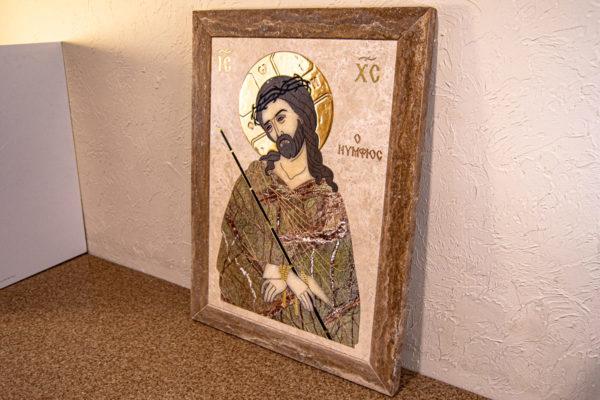 Икона Царь Иудейский № 1-12-1 из камня, Гливи, фото 2