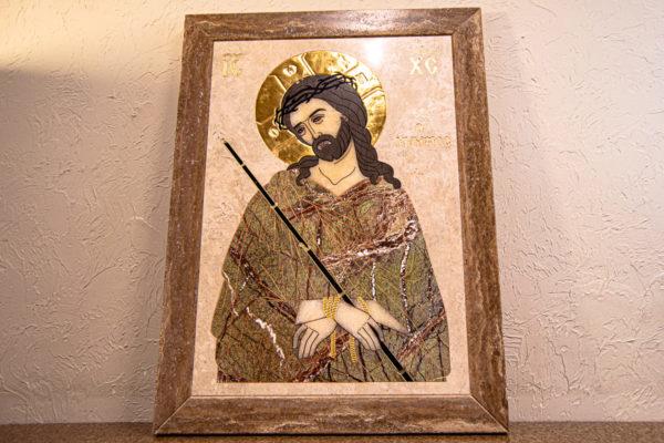 Икона Царь Иудейский № 1-12-1 из камня, Гливи, фото 12