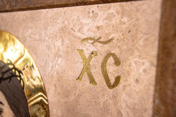 Икона Царь Иудейский № 1-12-1 из камня, Гливи, фото 5