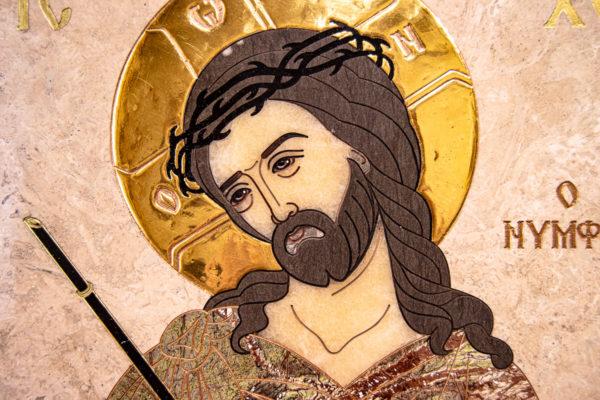 Икона Царь Иудейский № 1-12-1 из камня, Гливи, фото 7
