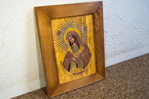Икона Остробрамской Божией Матери из камня, Гливи, фото 1