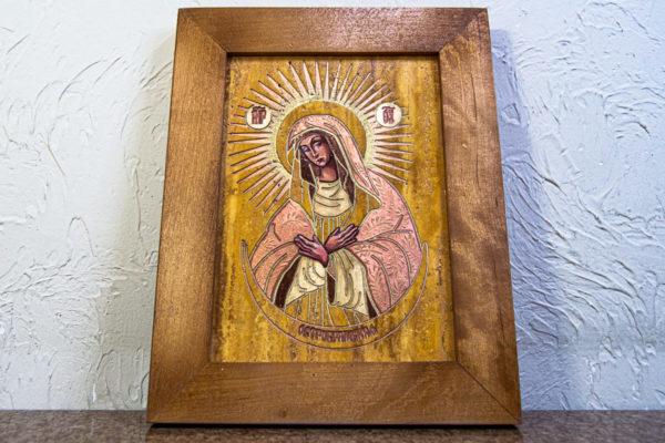 Икона Остробрамской Божией Матери из камня, Гливи, фото 2