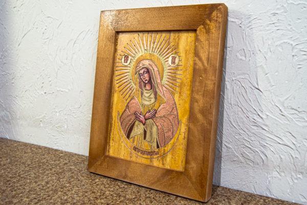 Икона Остробрамской Божией Матери из камня, Гливи, фото 3