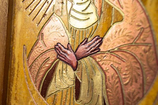 Икона Остробрамской Божией Матери из камня, Гливи, фото 4