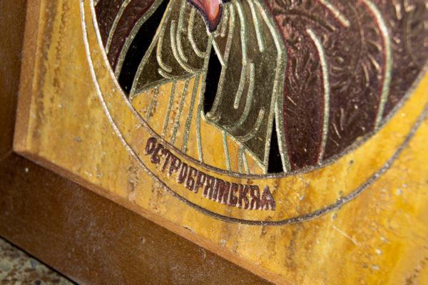 Икона Остробрамской Божией Матери из камня, Гливи, фото 5