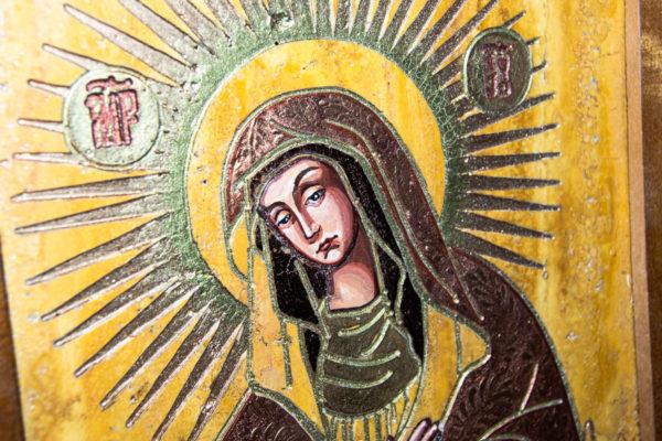 Икона Остробрамской Божией Матери из камня, Гливи, фото 6