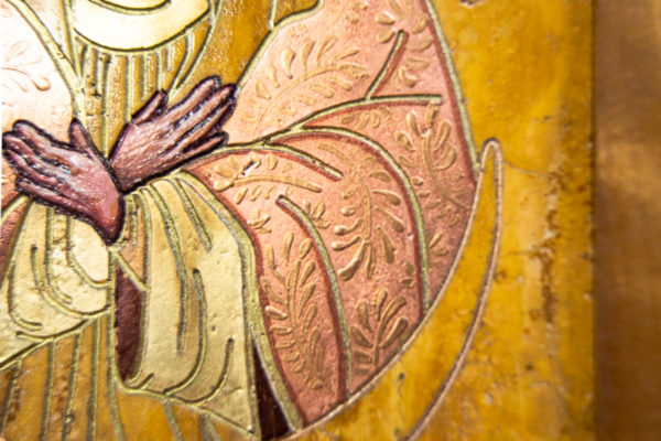 Икона Остробрамской Божией Матери из камня, Гливи, фото 7