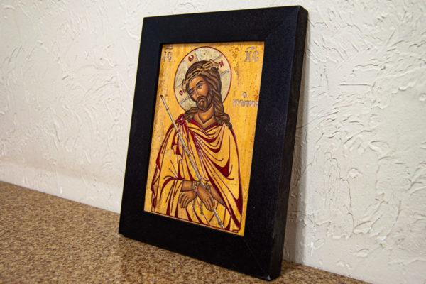 Икона Царь Иудейский № 5-5 из камня, Гливи, фото 3