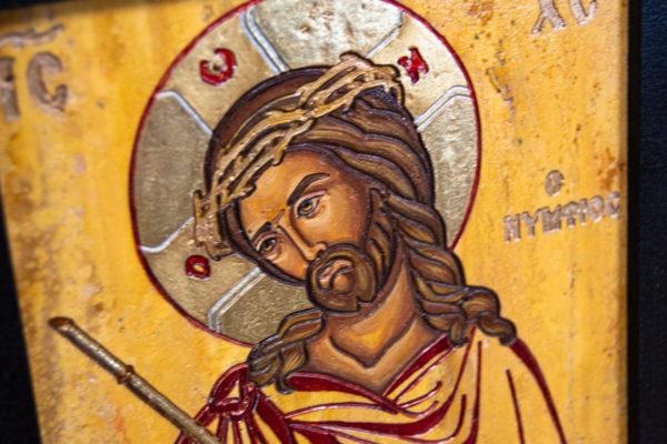 Икона Царь Иудейский № 5-5 из камня, Гливи, фото 4