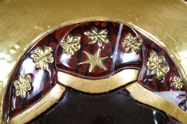 Ченстоховская икона (рельефная, храмовая) не номерная из камня, Гливи, фото 3