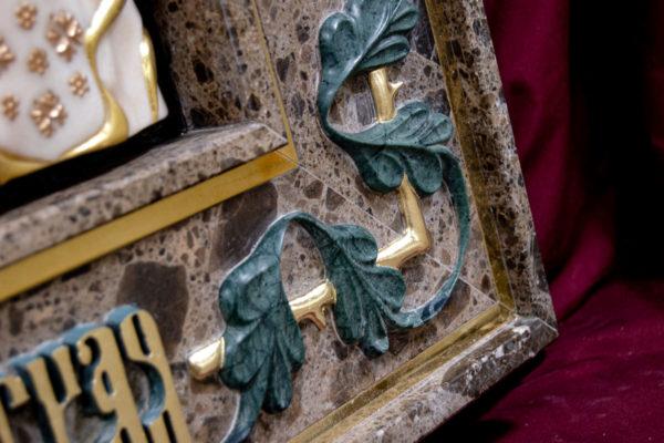 Ченстоховская икона (рельефная, храмовая) не номерная из камня, Гливи, фото 4