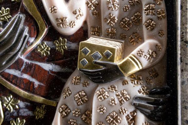 Ченстоховская икона (рельефная, храмовая) не номерная из камня, Гливи, фото 24
