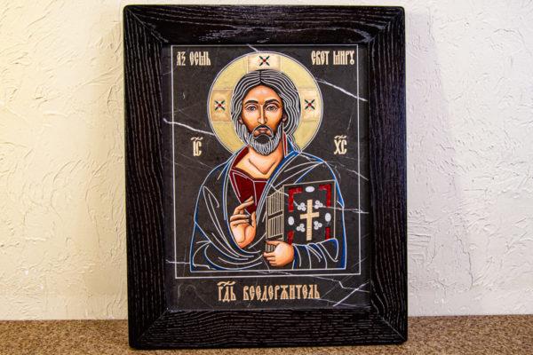 Икона Господа Вседержителя № 3-01 (Пантократор) из камня, Гливи, фото 1