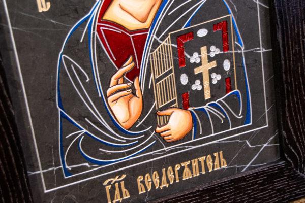 Икона Господа Вседержителя № 3-01 (Пантократор) из камня, Гливи, фото 3