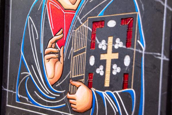 Икона Господа Вседержителя № 3-01 (Пантократор) из камня, Гливи, фото 8