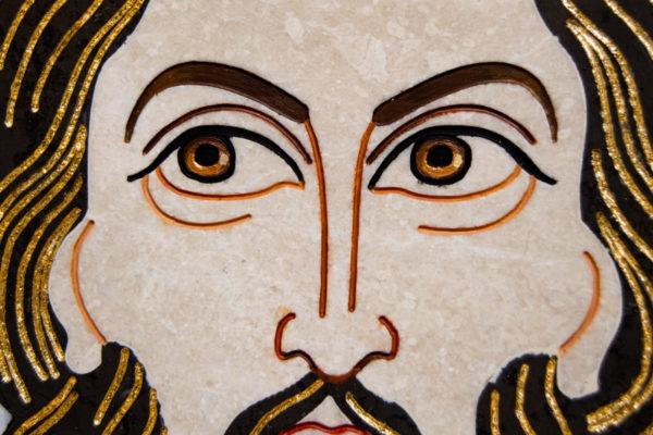Икона Спас Нерукотворный № 1-12-1 из камня, Гливи, фото 5