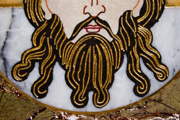 Икона Спас Нерукотворный № 1-12-1 из камня, Гливи, фото 6
