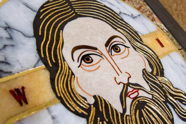 Икона Спас Нерукотворный № 1-12-1 из камня, Гливи, фото 9
