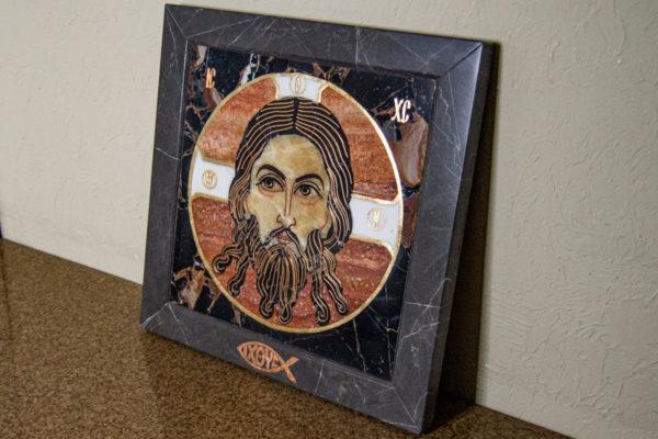 Икона Спас Нерукотворный № 1-12-7 из камня, Гливи, фото 2