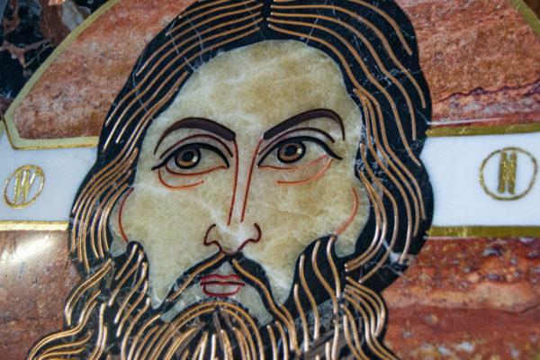 Икона Спас Нерукотворный № 1-12-7 из камня, Гливи, фото 5